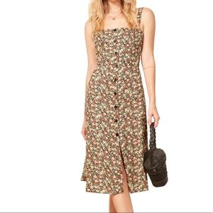 Reformation Persimmon Midi Dress in Tuesday 10